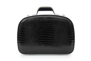 BLAUDESIGN Briefcase Crocodile Black
