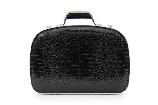 BLAUDESIGN Briefcase Crocodile Black