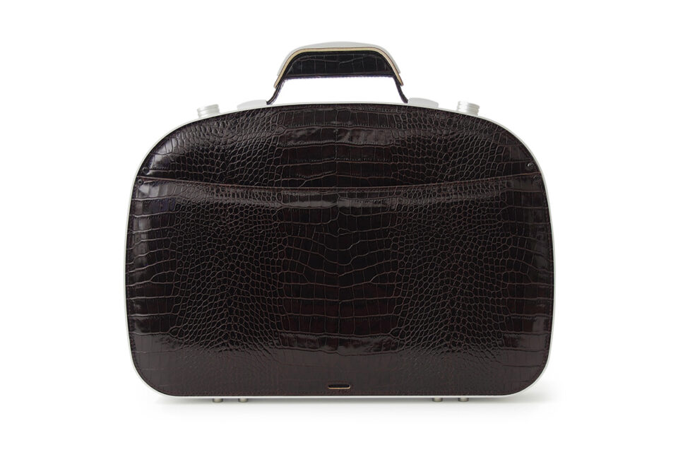 BLAUDESIGN Briefcase Crocodile Brown