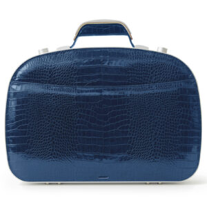 BLAUDESIGN Briefcase Crocodile Navy