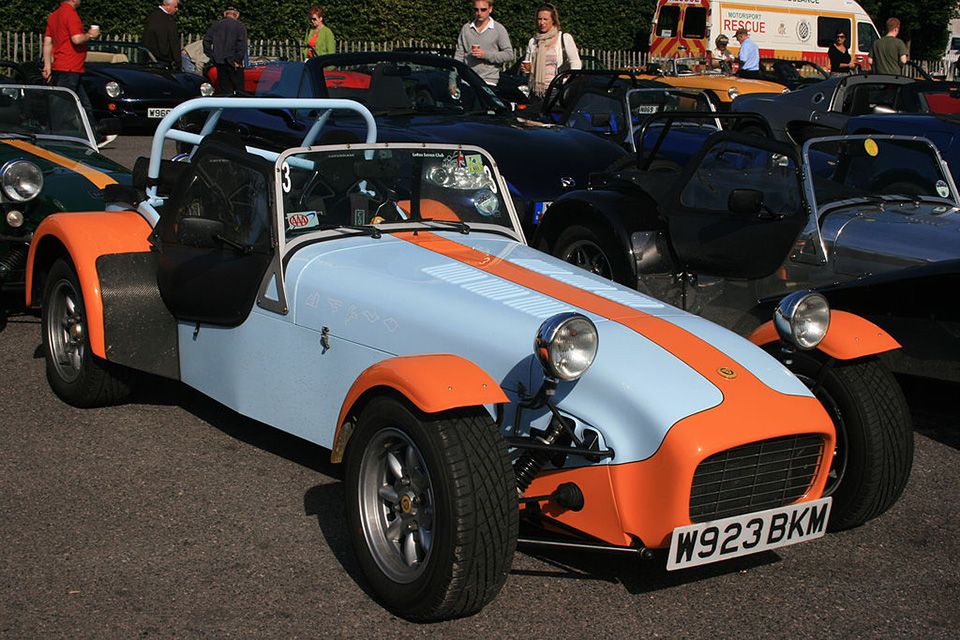 Caterham Seven Gulf colour