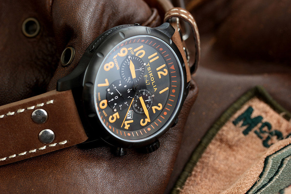 TSIKOLIA P-47-11 BLACK PVD/BLACK/ORANGE Index