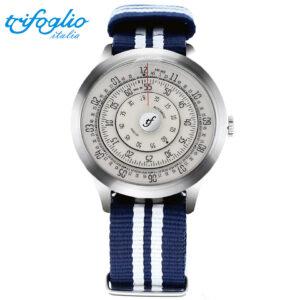 回転ディスク文字盤 機械式腕時計