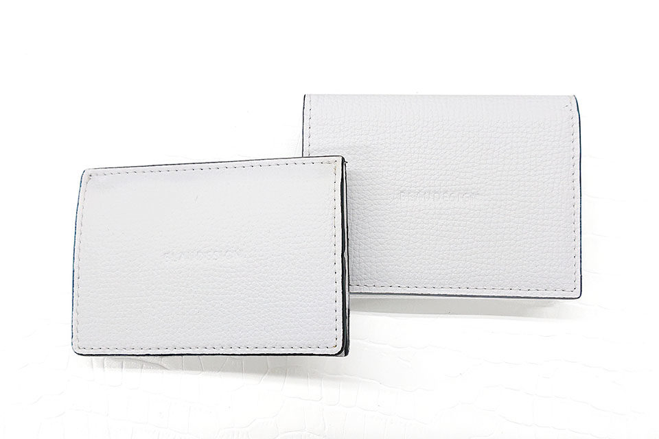 Wallet Two in One ホワイト&ライトブラウン