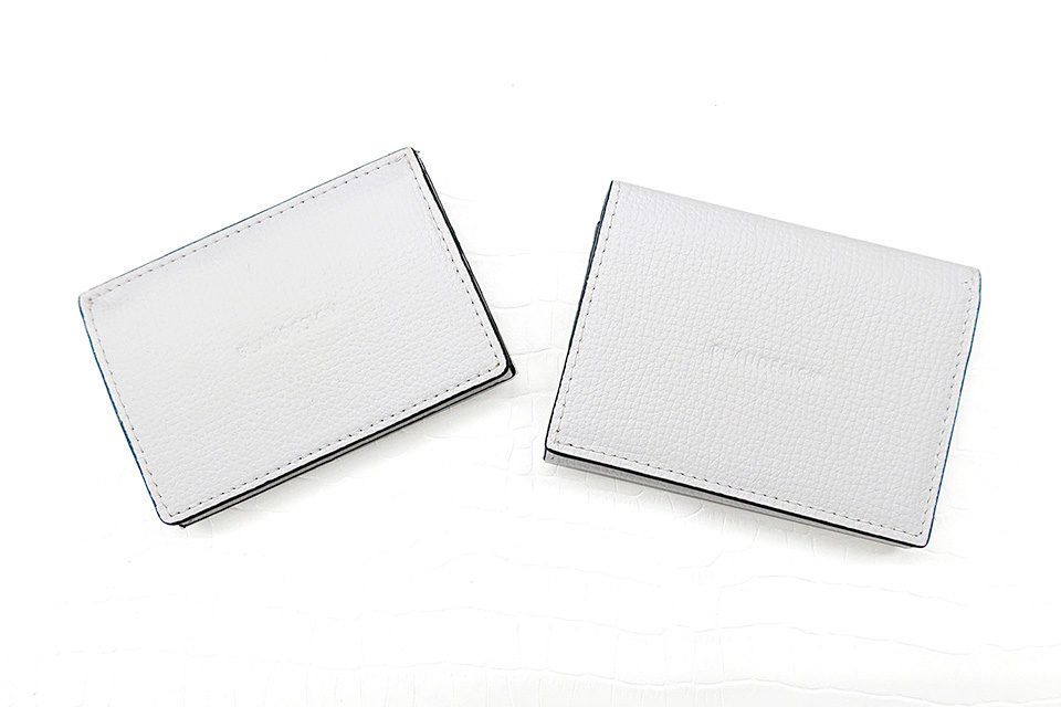 Wallet Two in One WHITE & LIGHT BROWN 表
