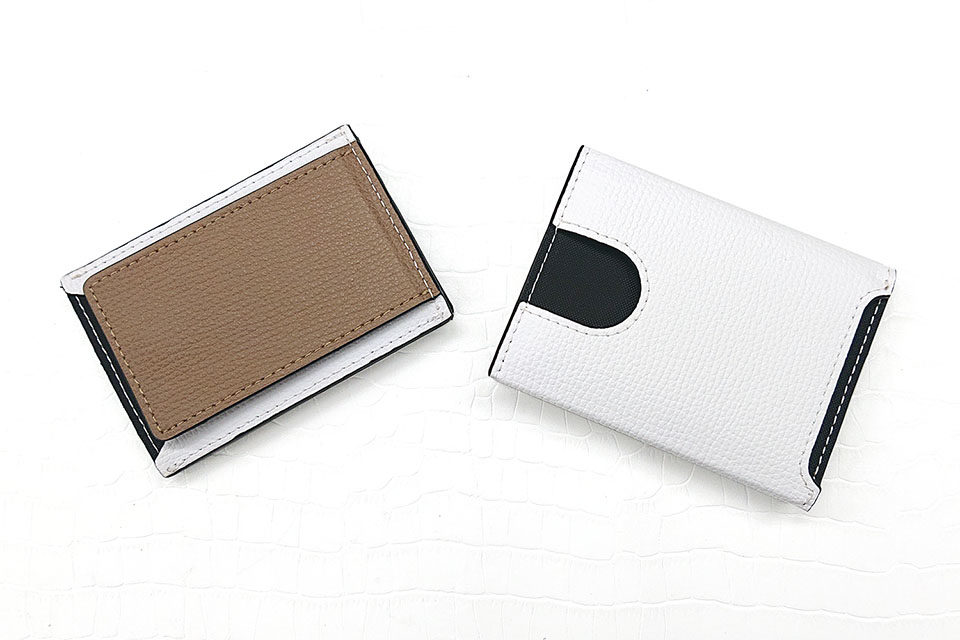 Wallet Two in One WHITE & LIGHT BROWN 裏