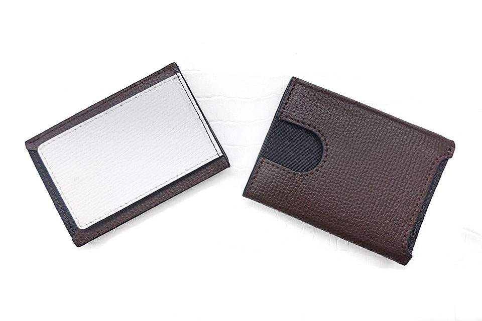Wallet Two in One BROWN & WHITE 裏
