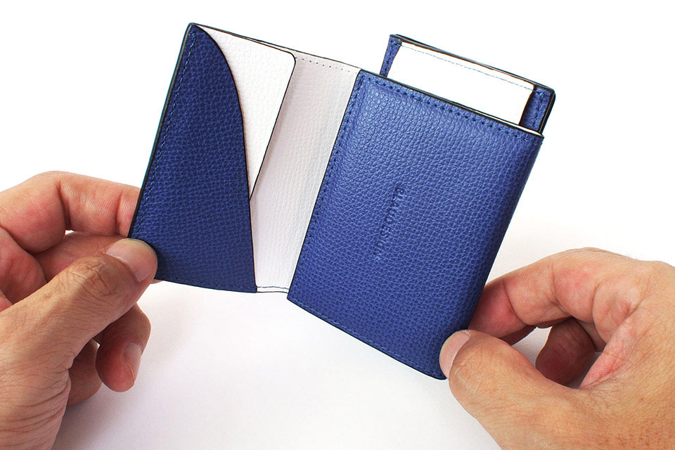 Wallet Two in One Blue/White