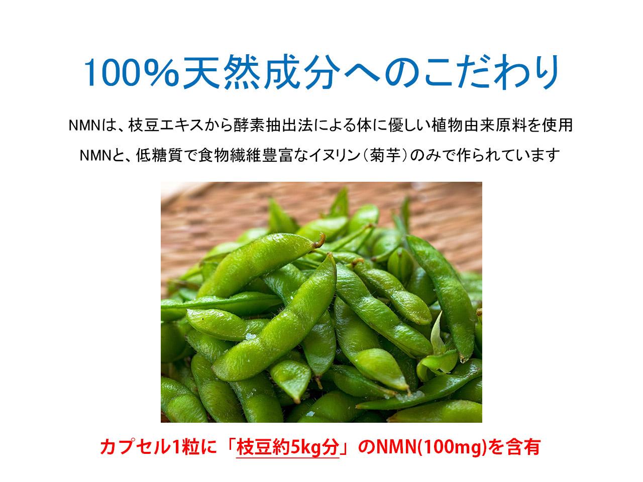 枝豆から抽出した天然のNMNサプリ