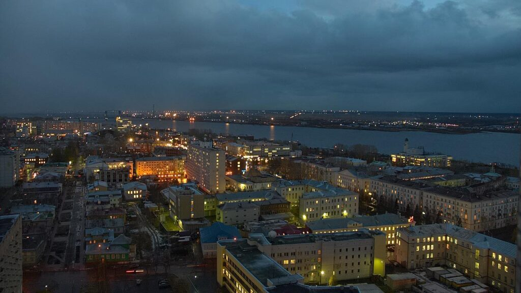 アルハンゲリスクの夜景